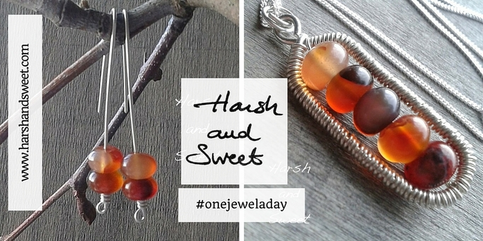 Harsh and Sweet's jewelry part of the One jewel a day project #onejeweladay
